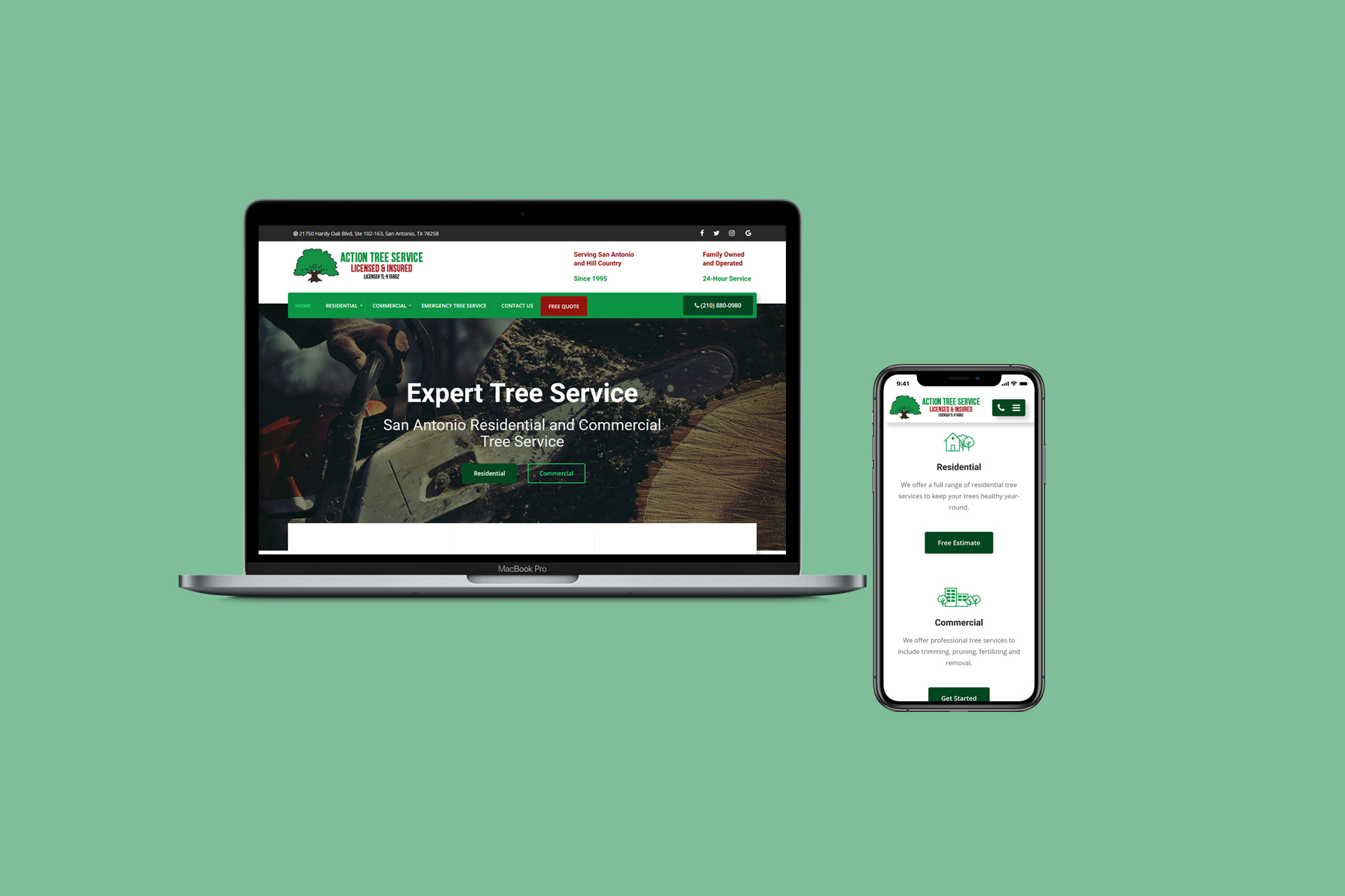 Tree Service Website Design and Development