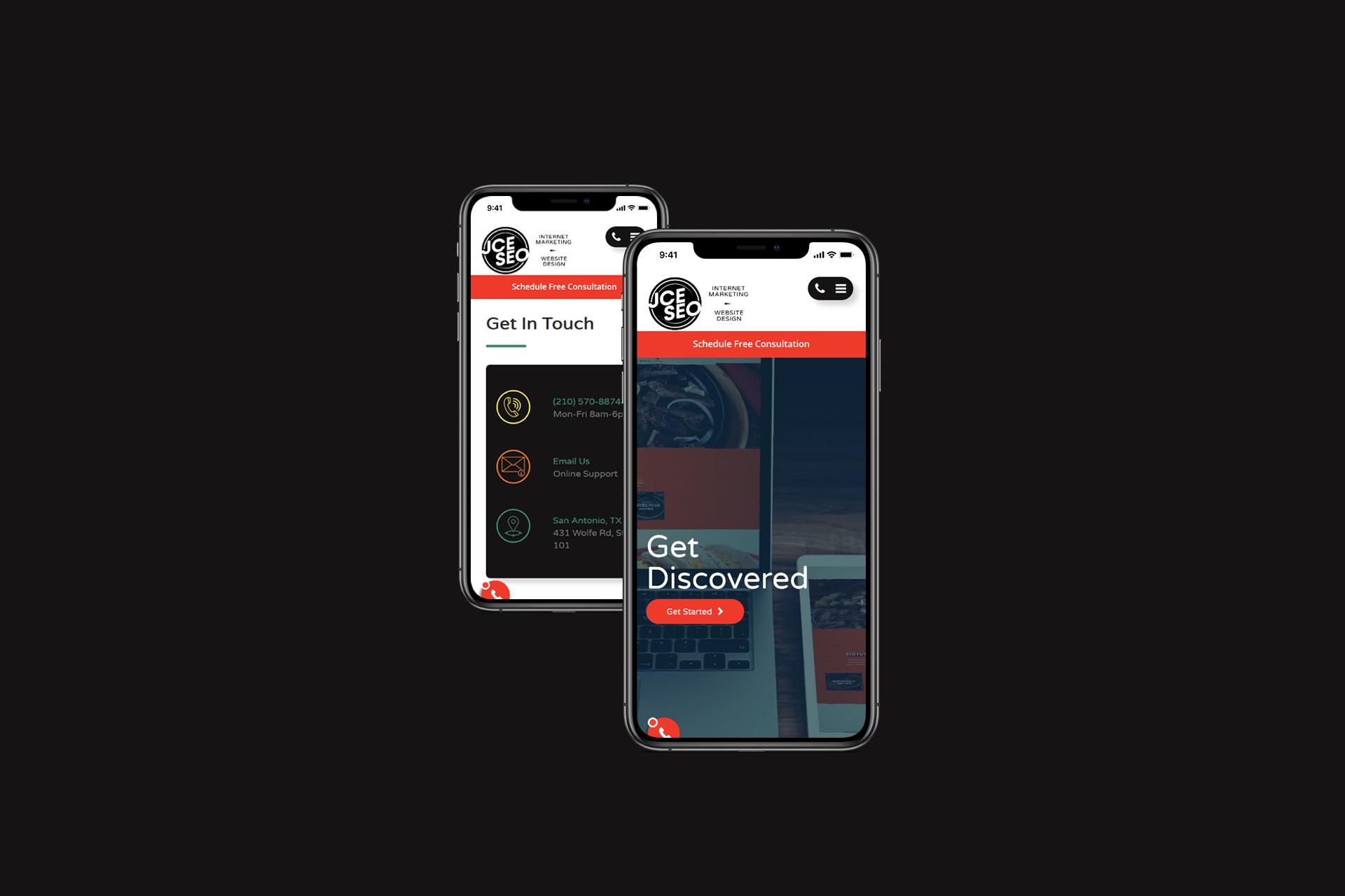 Digital Marketing Agency Mobile Website | Web Development and Design | E'finit Media San Antonio