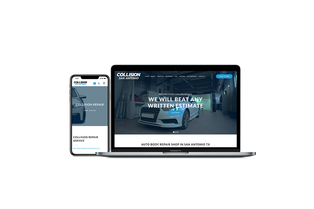 Auto Body Repair Shop Website Design and Development