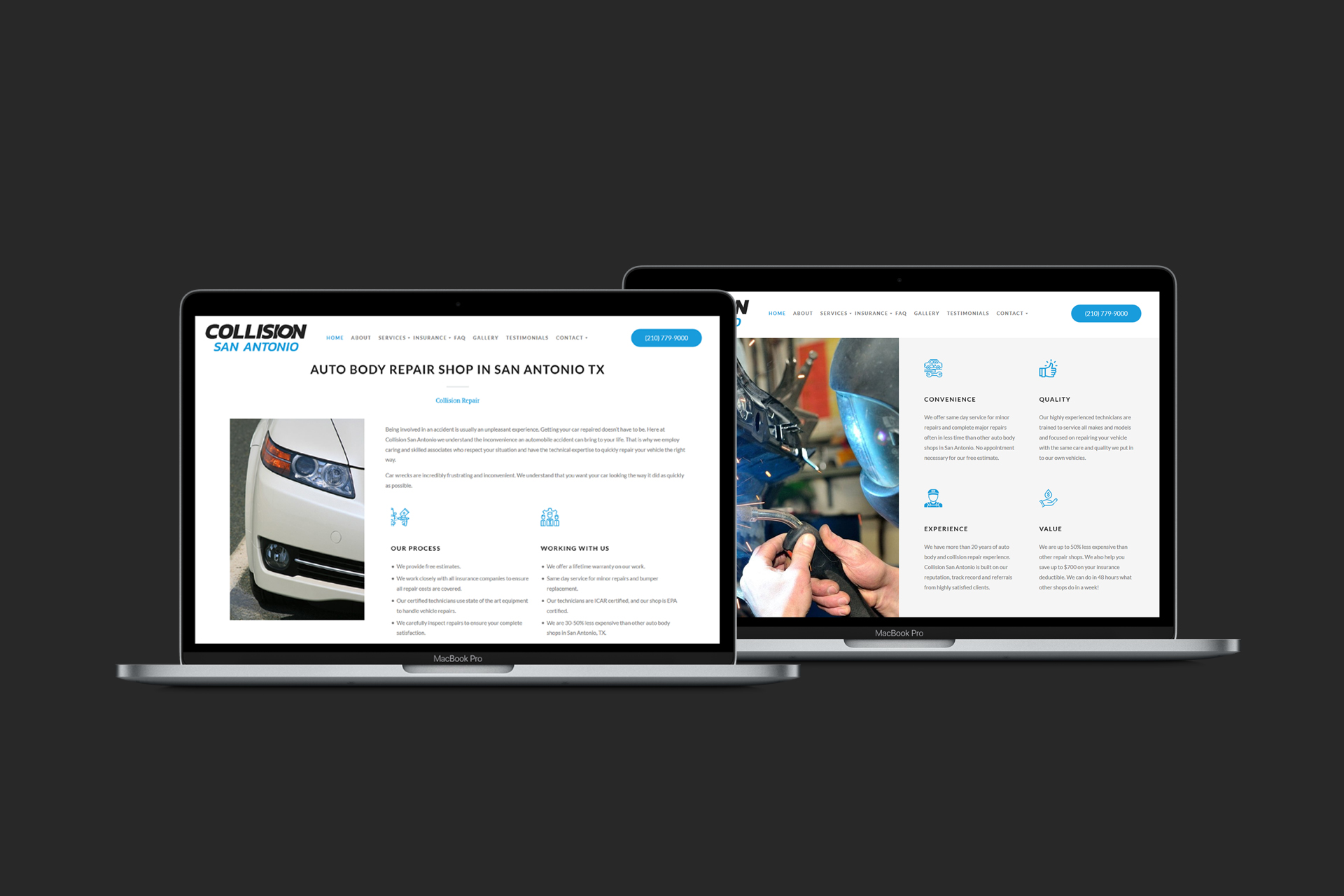 Auto Body Repair Shop Web Design and Development