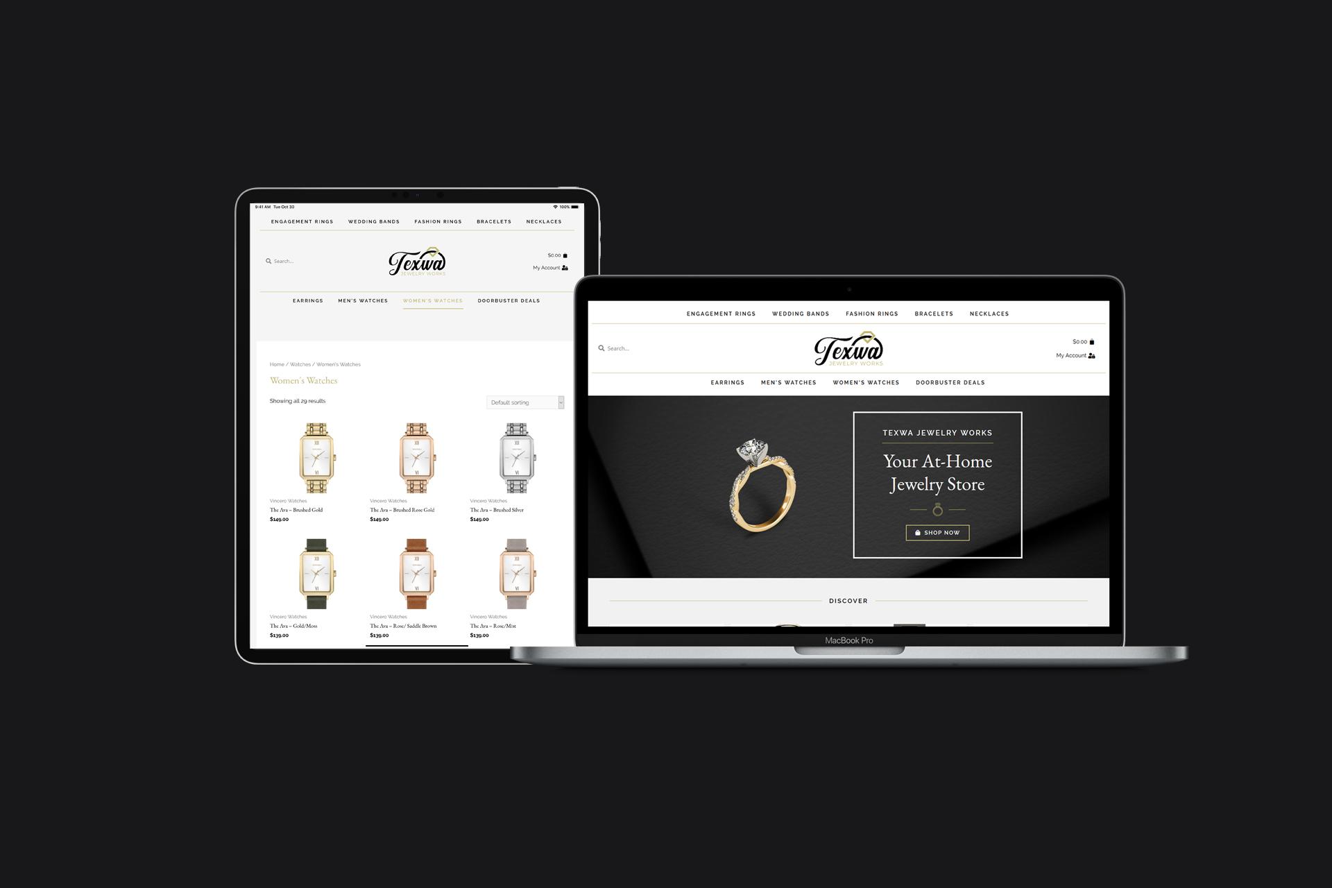 Jewelry eCommerce Website | WordPress Web Design and Development | E'finit Media San Antonio