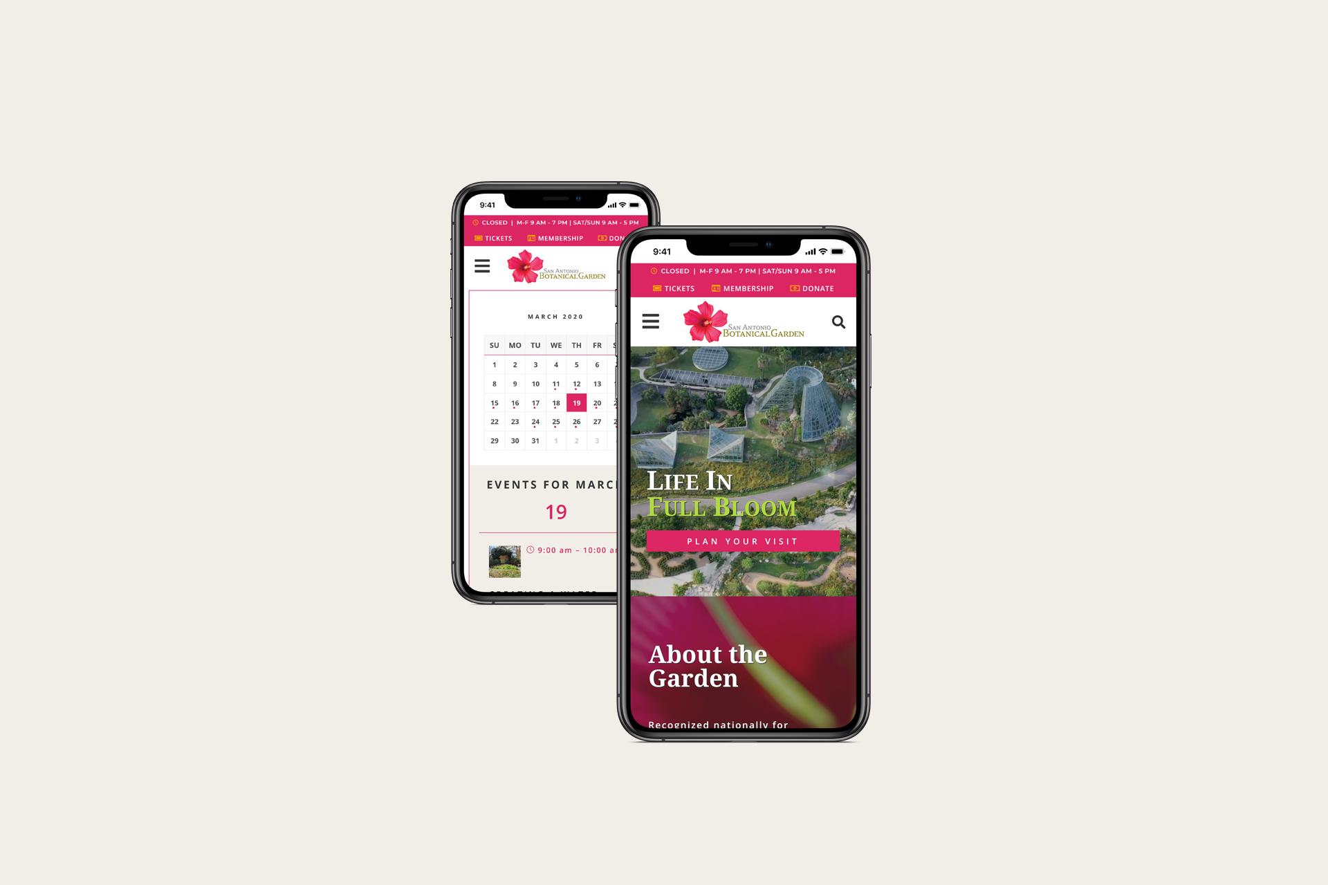 Botanical Garden Website | Mobile Web Design and Development | E'finit Media San Antonio