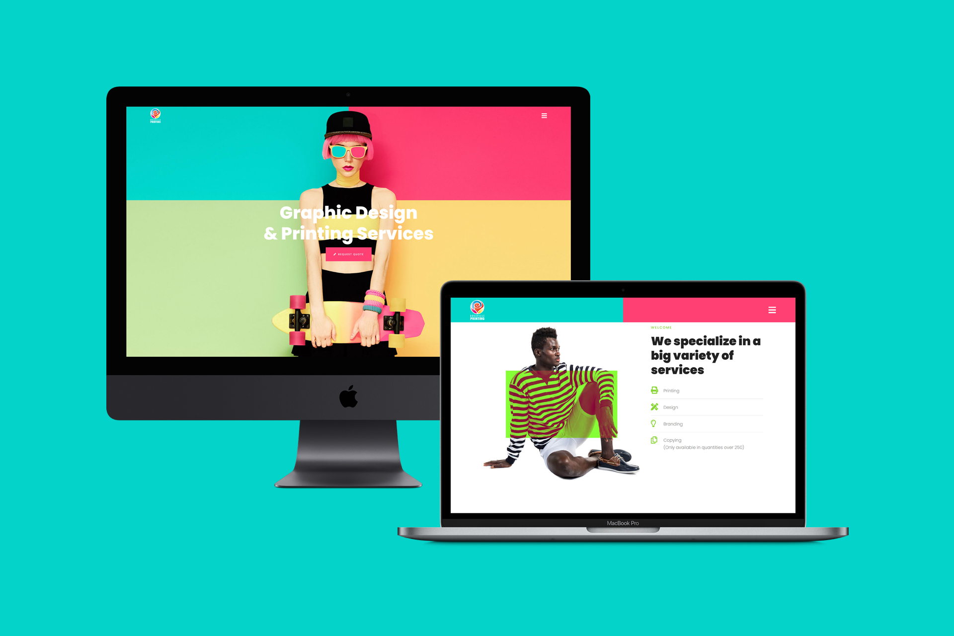 Graphic Design & Printing Company Website | WordPress Web Design and Development | E'finit Media San Antonio