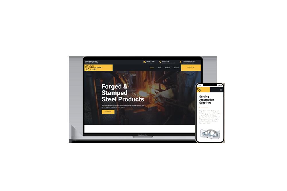 Industrial Parts Manufacturer Website   WordPress Web Development and Design   E'finit Media San Antonio