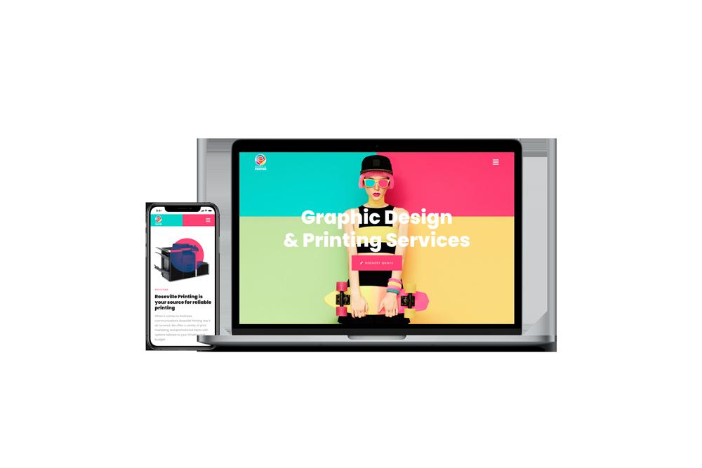 Graphic Design & Printing Company Website   WordPress Web Design and Development   E'finit Media San Antonio