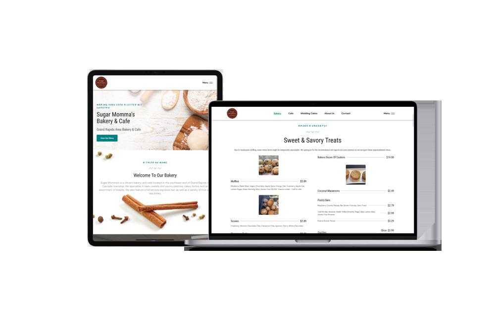 Bakery Cafe Website | WordPress Web Design and Development | E'finit Media San Antonio