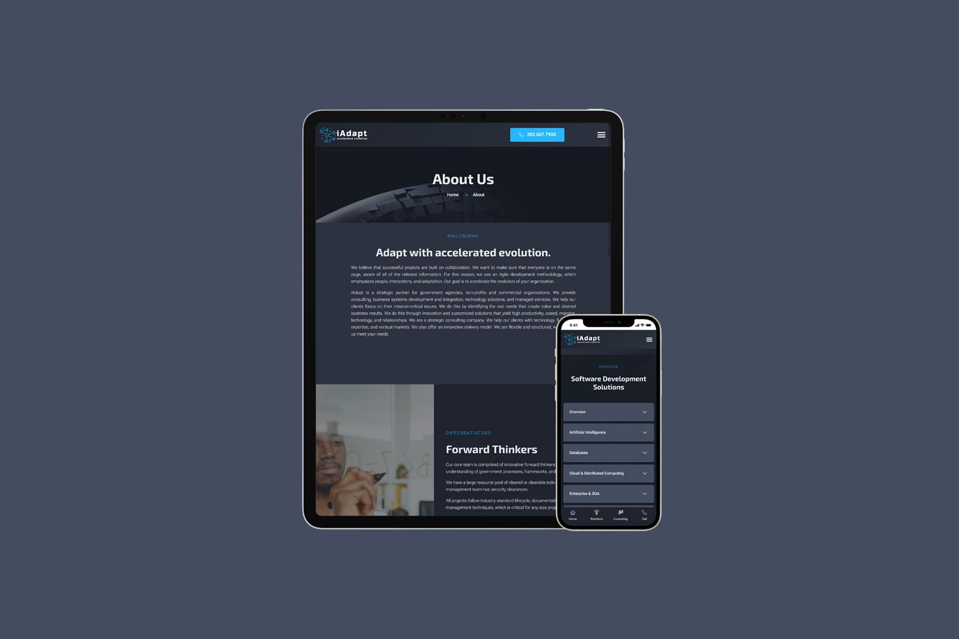 IT Services Company Website   Web Design and Development   E'finit Media San Antonio