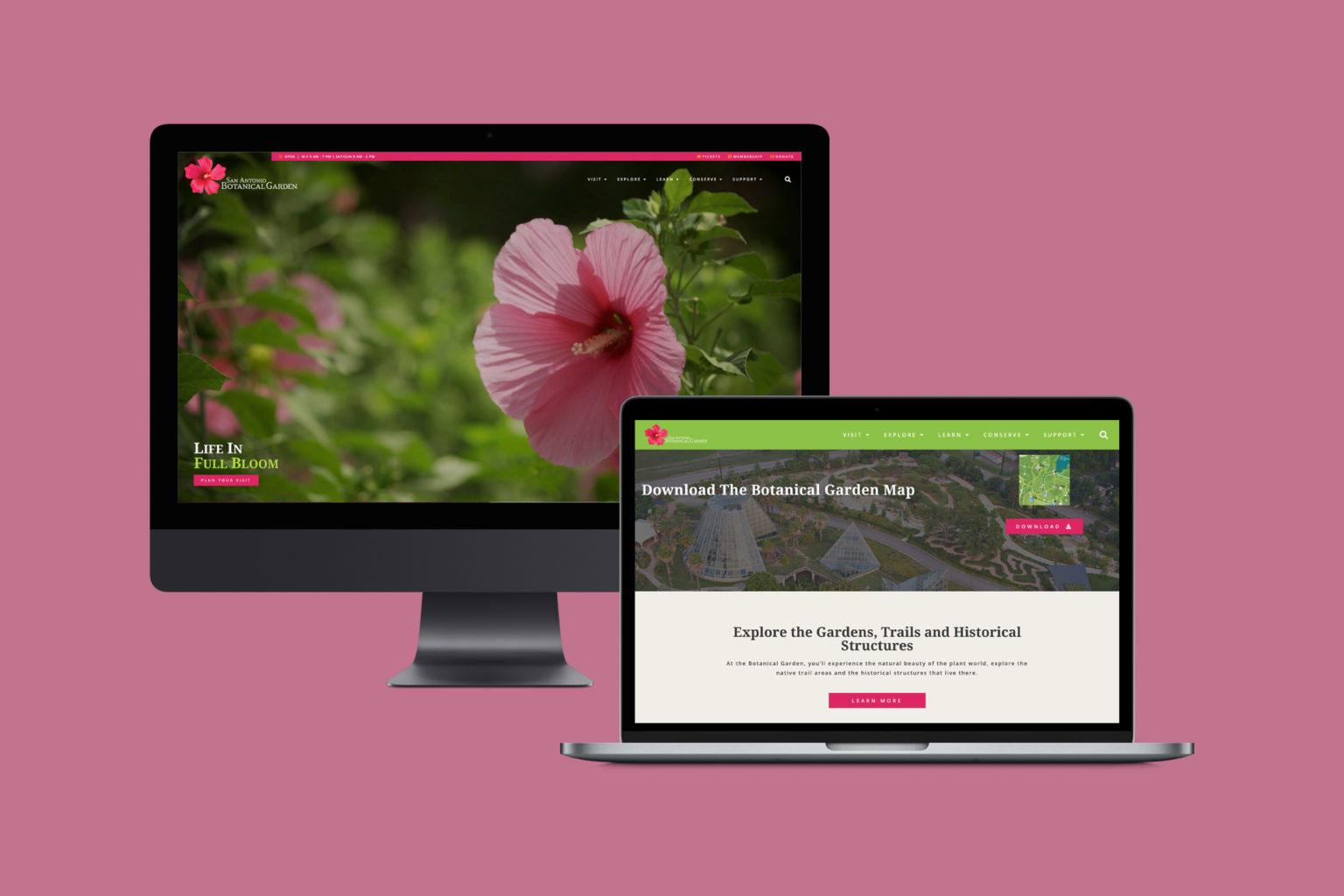 Botanical Garden Website   WordPress Web Design and Development   E'finit Media San Antonio